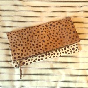 Calf hair Leopard fold over clutch 🐆
